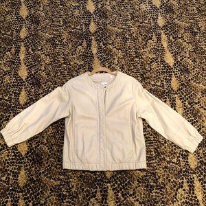 Vince Tan leather bomber jacket
